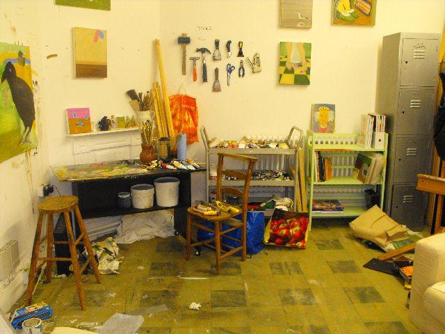 Interior of artist Charlie Day's studio. Photo: Collective Studios